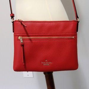Kate Spade red crossbody purse